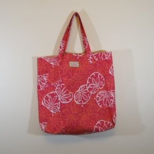 Lily Pulitzer tote with bonus make up case